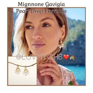 Designer Mignnone Gavigia Pearl Drop Earrings
